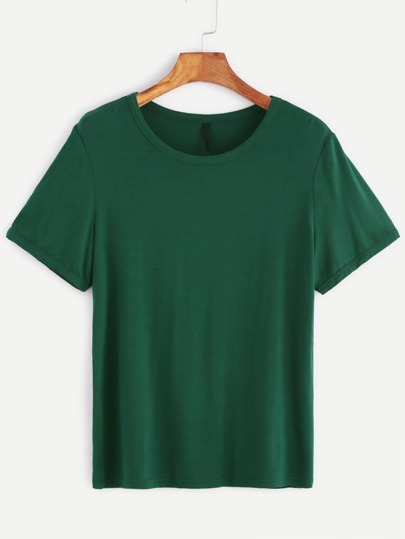 T-Shirt Maniche Corte Scollo Rotondo - Verde