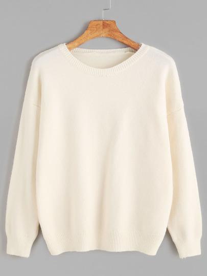 Apricot Drop Shoulder Jersey Sweater