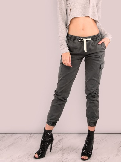 Cargo Skinny Joggers CHARCOAL