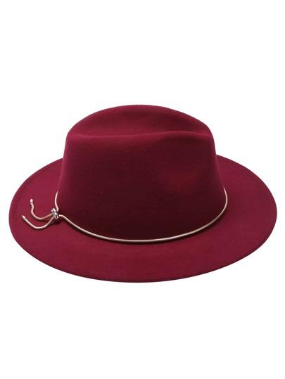 Cappello Fedora Con Catena Jadoku Di Metallo - Borgogna