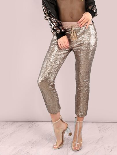 Sequin Jogger Pants GOLD