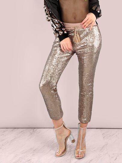 Sequin Jogger Pants GOLD