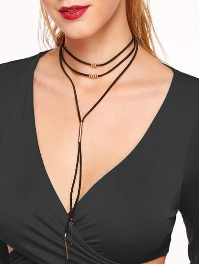 Collar con diseño simple - negro