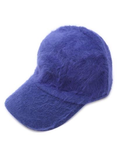 синяя пушистая повседневная бейсболка