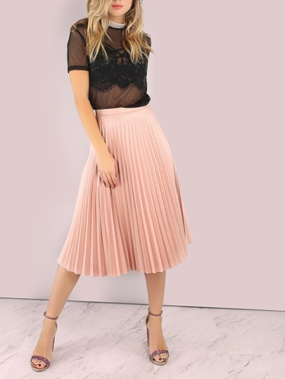 Pleated Midi Skirt PINK SAND