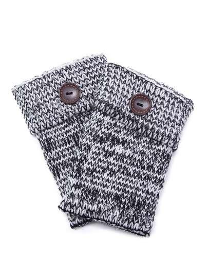 Marled Knit Woolen Leg Warmers