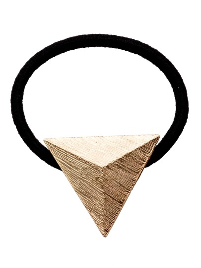 Matte Gold Metal Triangle Vintage Hair Tie