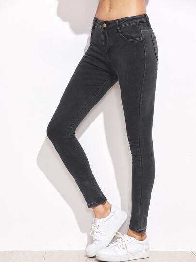Skinny Knöchel Jeans -dunkel grau
