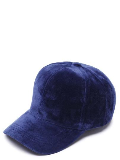Navy Velvet Casual Baseball Cap