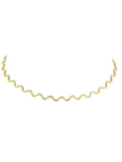 Collana Collare Di Metallo - Oro