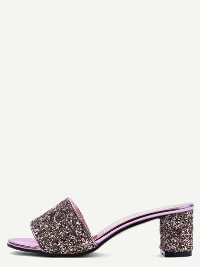 Sandalias con lentejuelas - dorado rosa