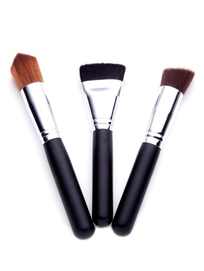 Black Makeup Brush Set 3PCS