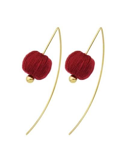 Orecchini Hanging Con Palle - Rosso