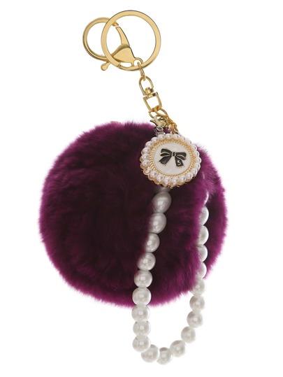Schlüsselanhänger mit Bommel Perle