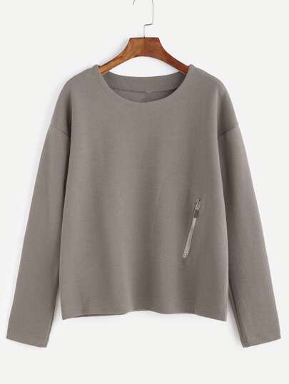 T-Shirt Rifilato Cerniera Spalle Cascanti - Marrone Chiaro