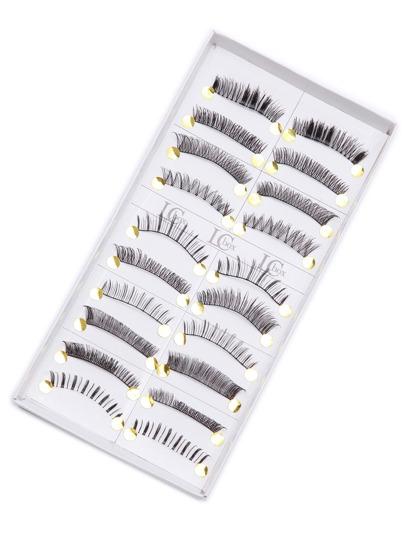 Black Long False Eyelash Set 10PCS