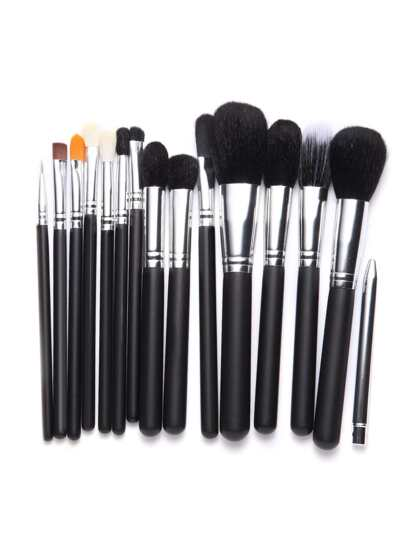Black Metallic Professional Makeup Brush Set 15PCS