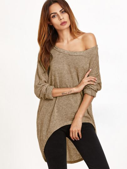 Curved Hem High Low T-shirt