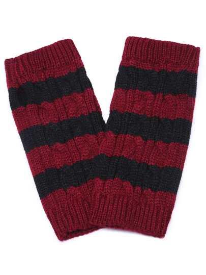 Чёрно-красные полосатые перчатки