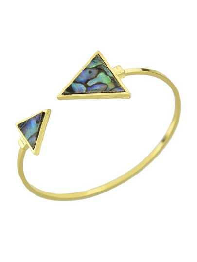 New Model Colorful Stone Triangle  Cuff Bangles