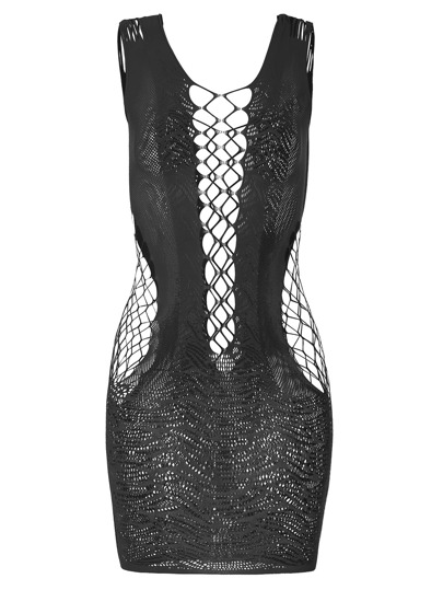 Coarse Mesh Lace Bodycon Lingerie