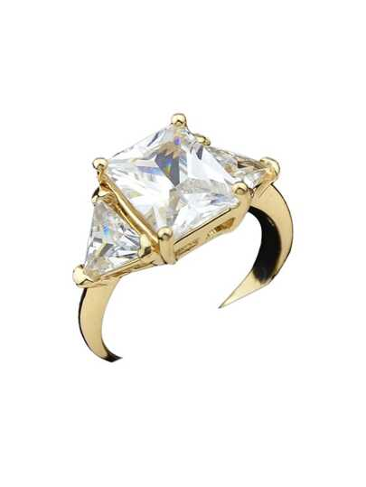 Gold Color Imitation Crystal Bridal Rings