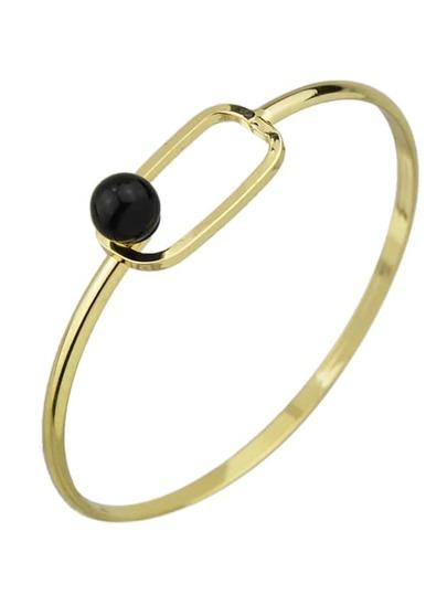 Black Color Turquoise Thin Bangles Bracelets