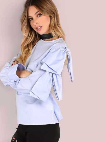 Single Open Shoulder Flow Blouse