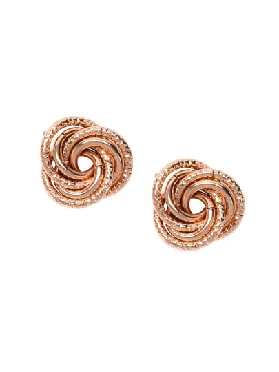 Gold Plated Simple Floral Stud Earrings