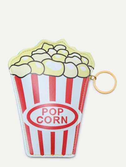 Popcorn Shaped Zipper Closure Wallet