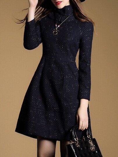 A-robe à collier haut -marine