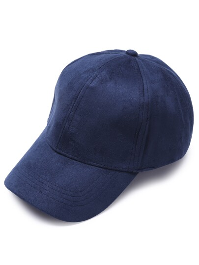 Тёмно-синяя замшевая повседневная бейсболка