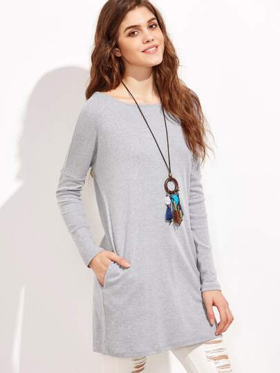 Cutout Low V Back Tee Dress