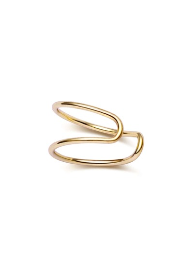 Gold Plated Simple Earring Clip