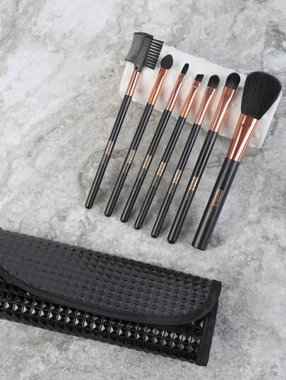 Cosmetic Brushes Travel Kit BLACK