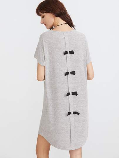 Knit Bow Back Tee Dress