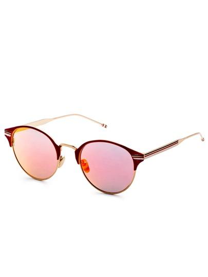 Lunettes de soleil cadre lentille rose chat oeil -rouge