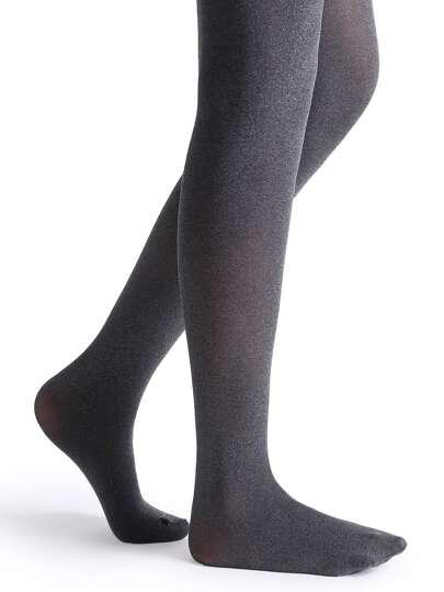 Black Marled Knit Tights