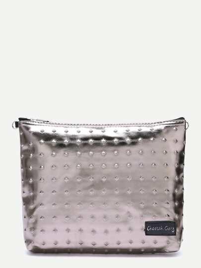 Rose Gold Metallic Luster Clutch Bag