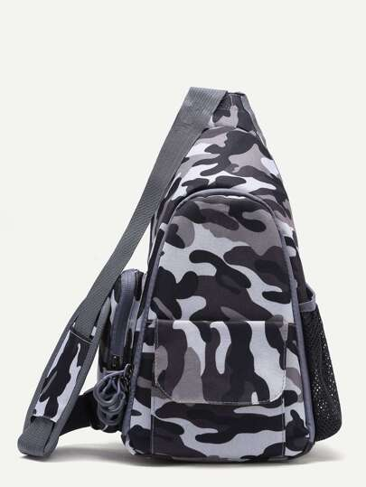 Модный брезентовый рюкзак с камуфляжным принтом для камеры