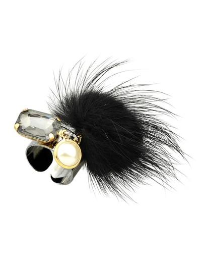 خاتم أزياء أسود