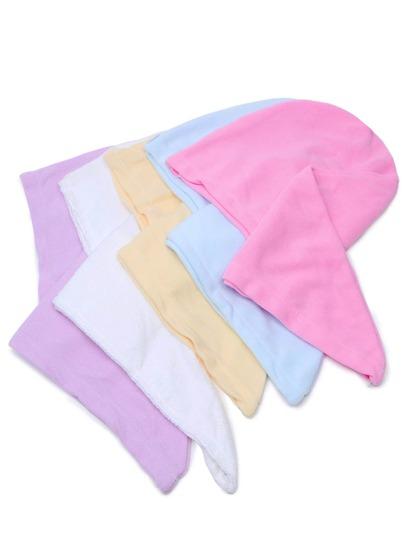Turban serviette de bain absorbant l'eau en couleur random