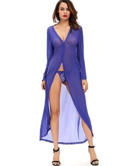 High Split Maxi Night Dress Set