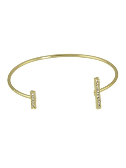 Brazalete abierto ajustable - oro