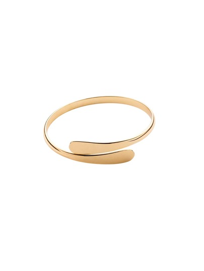 Flat Fronted Gold Open Bracelet