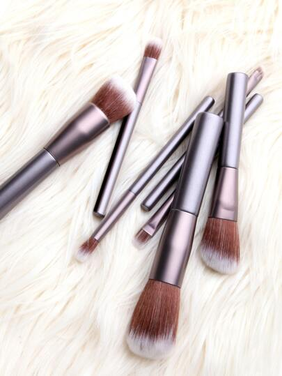 Metallic Professional Makeup Brush Set 7PCS