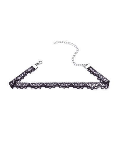Black Hollow Out Lace Choker Necklace