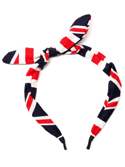 Union Jack Pattern Knotted Headband