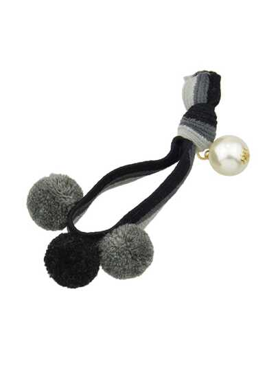 Black Color Pearl Elastic Hair Band