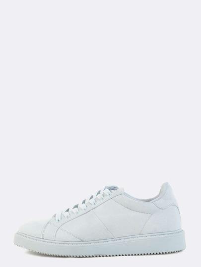 Pastel Faux Suede Sneakers BLUE